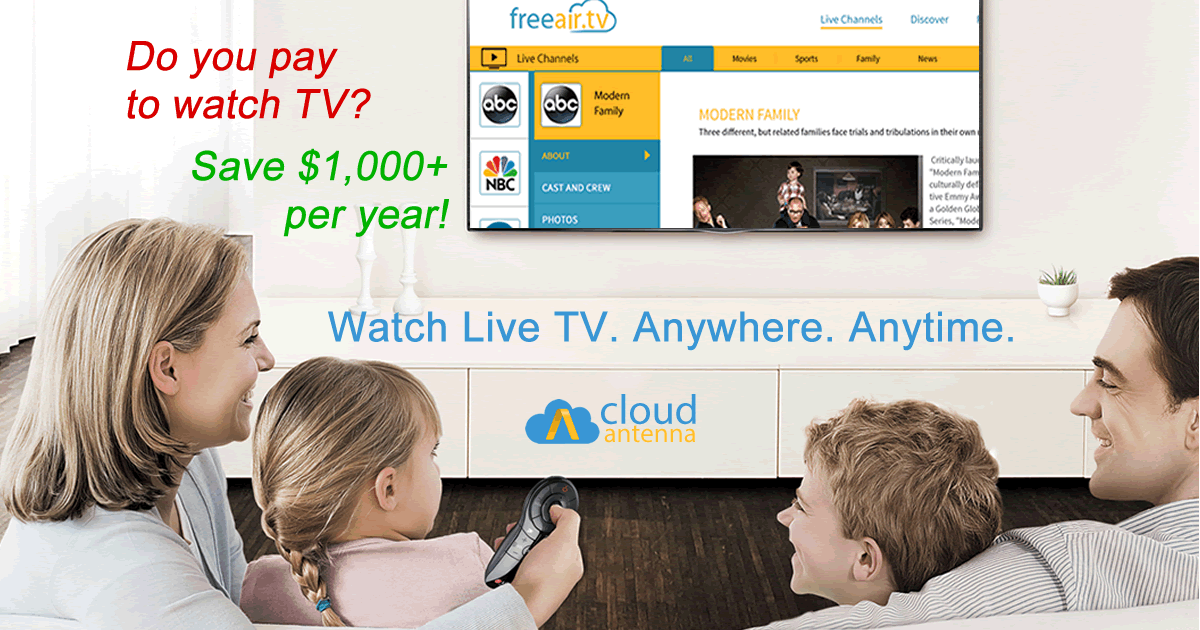 Connect CloudAntenna OTA DVR and Cloud TV to watch, record